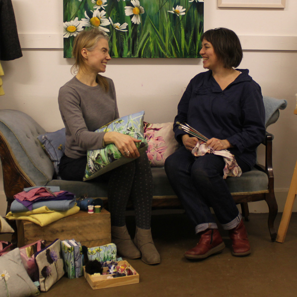 Scottish artist Kirsty Lorenz and designer maker Ruth Morris of Roobedo discuss their collaboration