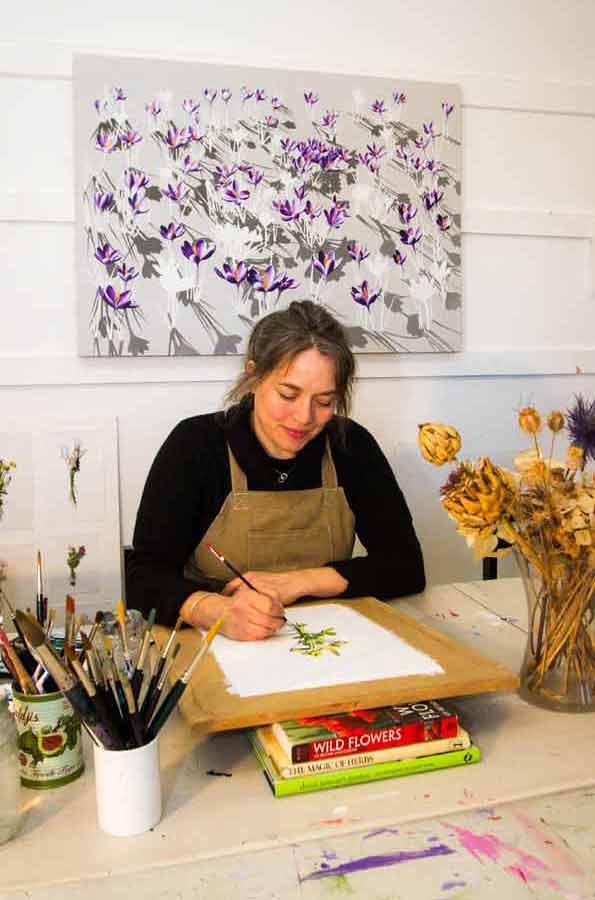 Kirsty Lorenz in her studio