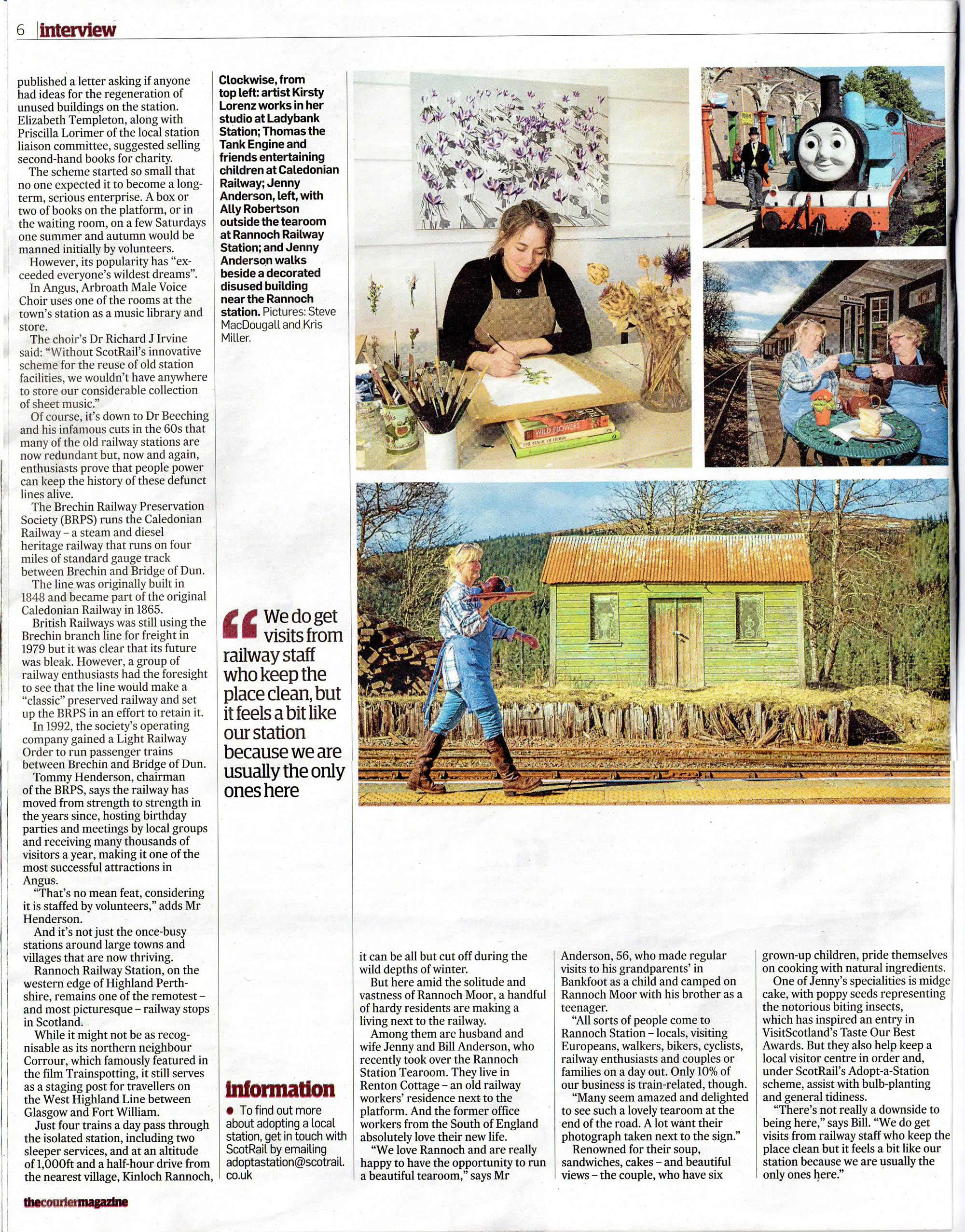 Kirsty Lorenz, The Courier Weekend Magazine