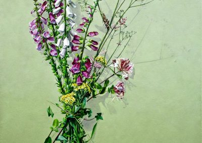 5 Votive Offering No 62 - Bouquet of Wild Poison, oil on linen, 110x70cm